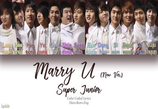 Học tiếng Hàn qua bài hát Marry You - Super Junior